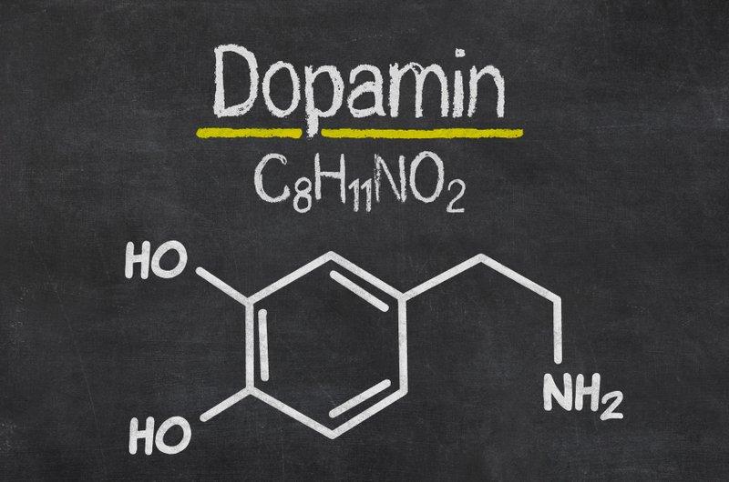 Chemische Formel von Dopamin | Das Verständnis der Zusammenhänge erfordert einiges Wissen über Dopaminrezeptoren, Dopaminagonisten und das dopaminerge System (© Zerbor / Fotolia)